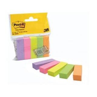 Post-It Index 670, 5 färger, 15x50mm