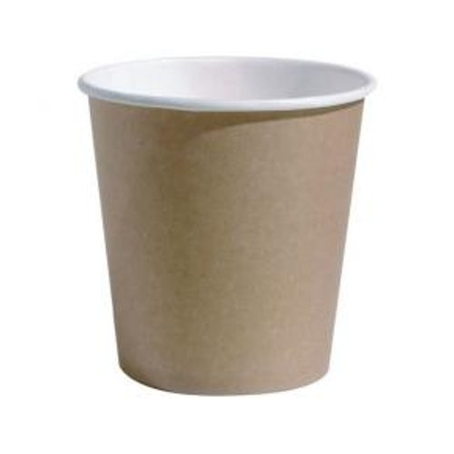 Pappersbägare 10cl brun/vit 80/FP