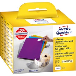 Etikett Avery 57x32 1000/fp