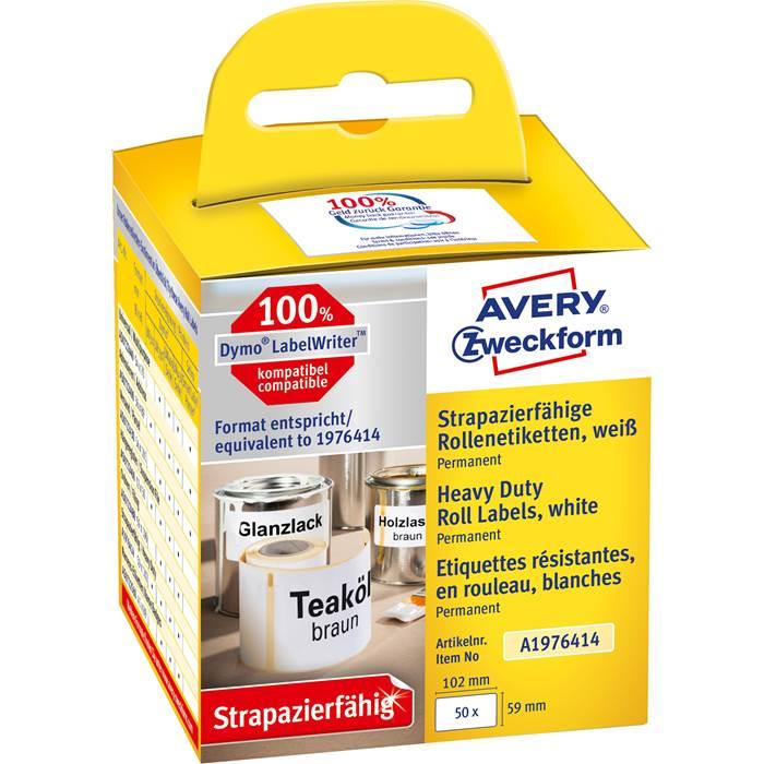 Etikett Avery durable 59x102mm