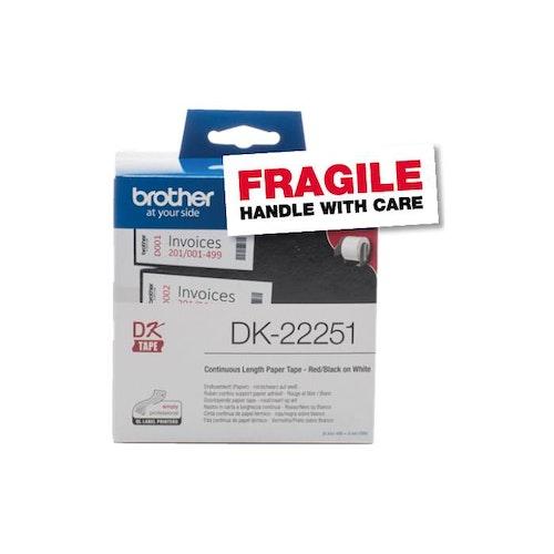 Etikett DK22251 svart/röd