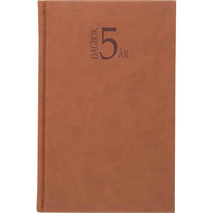 Kalender 5-årsdagboken konstläderläder cognac