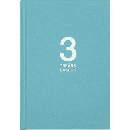 Kalender 3-årsdagbok Linne turkos