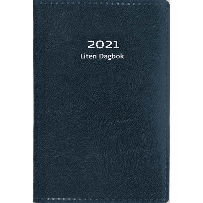 Kalender Liten dagbok konstläder blå 2021