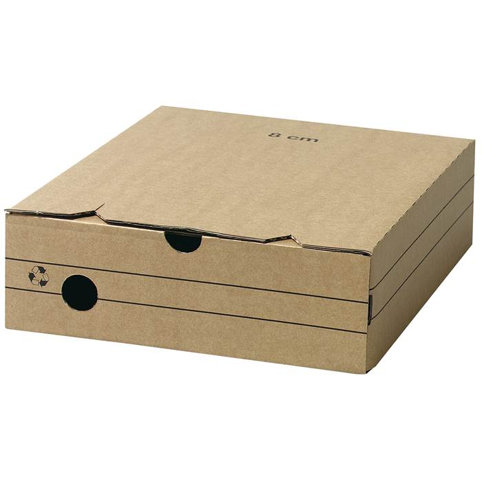Arkivbox A4 wellpapp 8cm