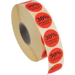 Etikett 30% avdrages 2000/rl
