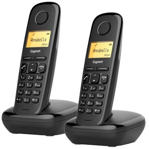 Telefon Gigaset A170 DUO svart