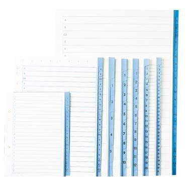 Pärmregister papper A4 1-5