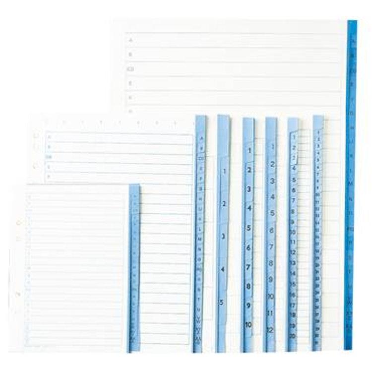 Pärmregister papper A4 1-10