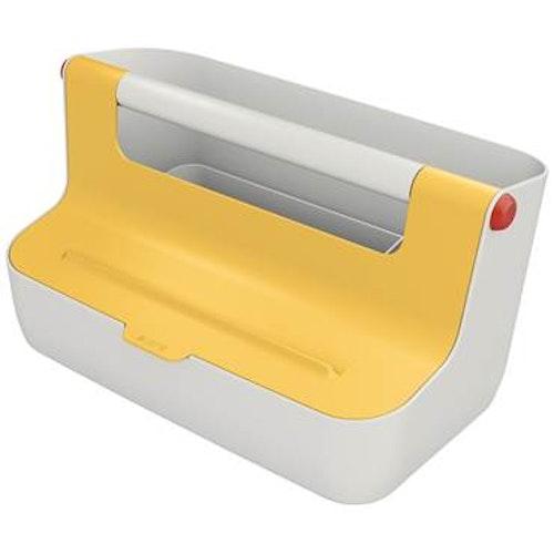 Förvaringslåda Box Leitz Cosy bärbar gul