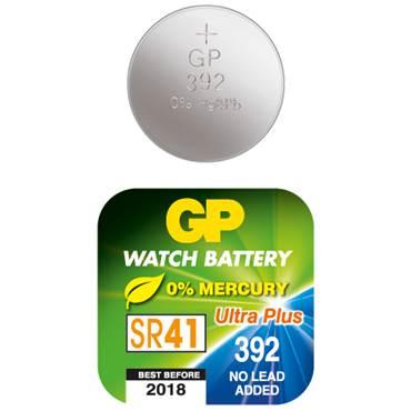 Batteri GP Silveroxid SR41 392