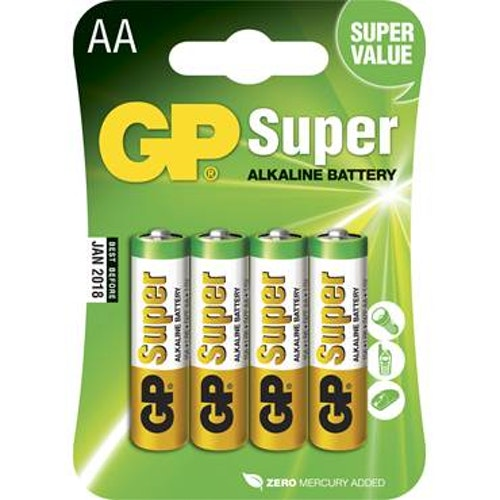 Batteri GP Super AA/LR6 4/fp