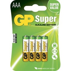 Batteri GP Super AAA/LR03 4/fp
