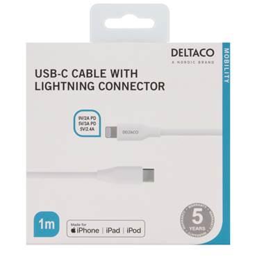 Kabel USB-C - Lightning 1 meter