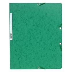 Snoddmapp A4 grön