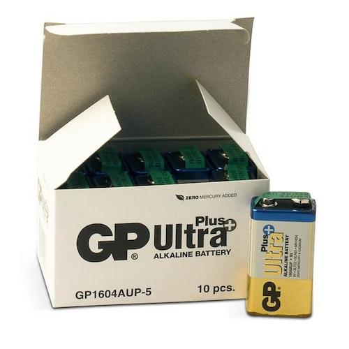 Batteri GP Ultra Plus 9V 10 st/fp