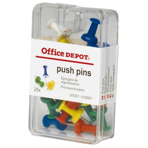 Kartnålar Push-pin sort.f 25/f