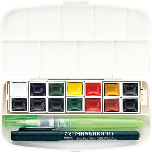 Vattenfärg set 14 color Zig