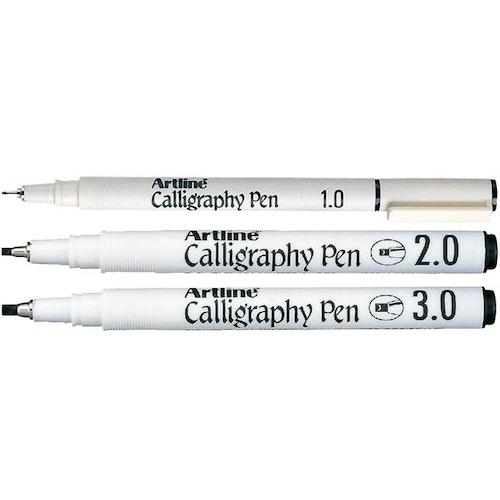 Kalligrafi Artline svart 3/set