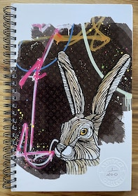 Limited edition Notebook 'Glam Hare'