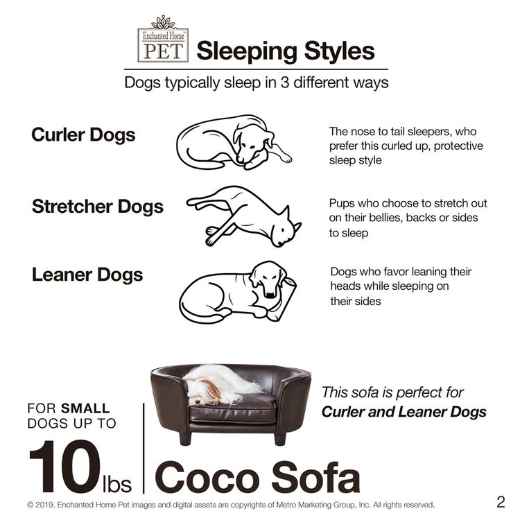 Hundsäng på ben - Coco Sofa Brun