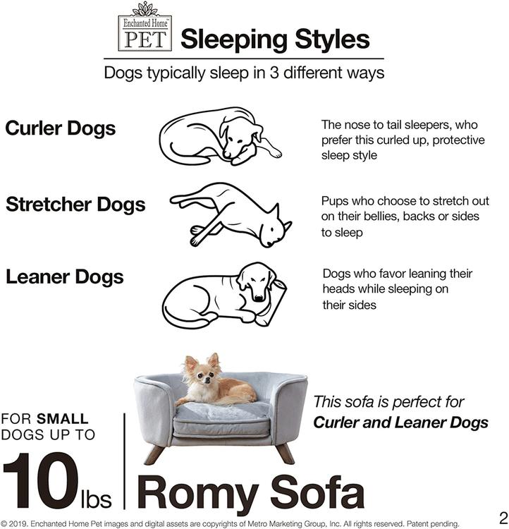 Hundsäng på ben - Romy sofa blå