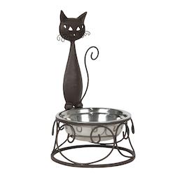 Unik matskål med katt dekor