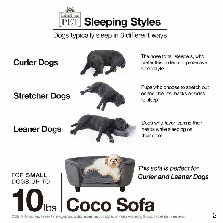 Hundsäng Coco Grå