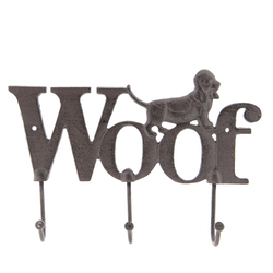 Klädhängare hund i metall