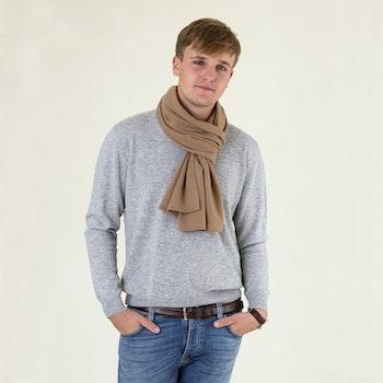 ALEX. Cashmere scarf in 100% cashmere. Camel.