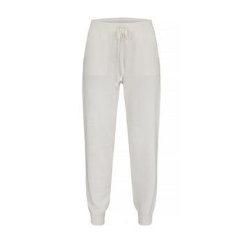 BILLIE. Jogger knitted in 12 gauge. White.