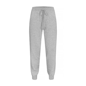 BILLIE. Cashmere jogger with pockets. Light gray.