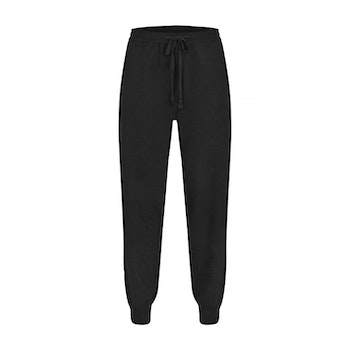 BILLIE. Cashmere jogger with pockets. Black.