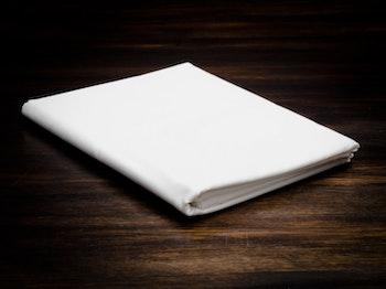 Flat sheets White
