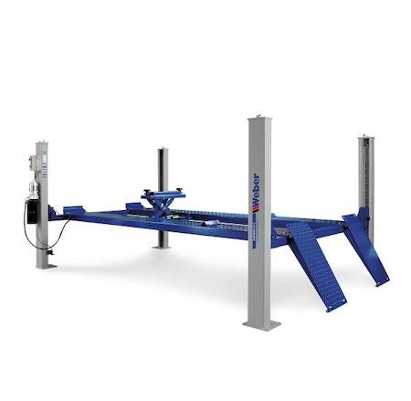 Fyrpelarlyft Weber Expert-serien 4.2 ton ( Släta körbanor utan frihjulslyft )