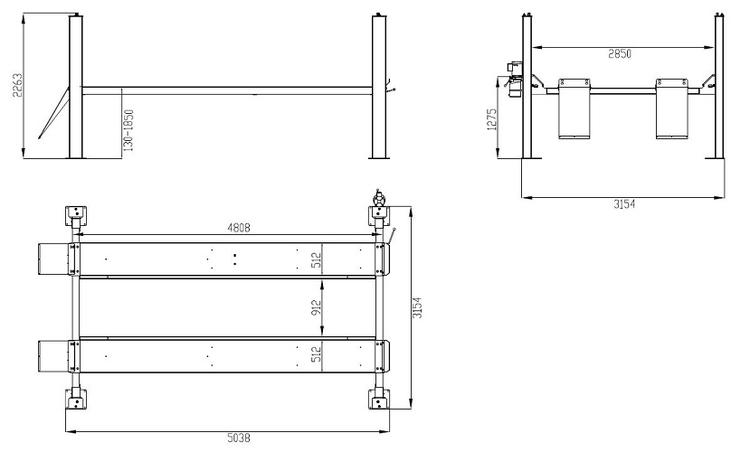 4-Pelarlyft Weber Expert-serien 4.2 ton