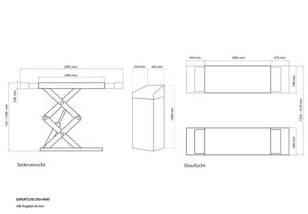 Weber Expert Serie 4000kg dubbla kolvar 400V för montage i golv