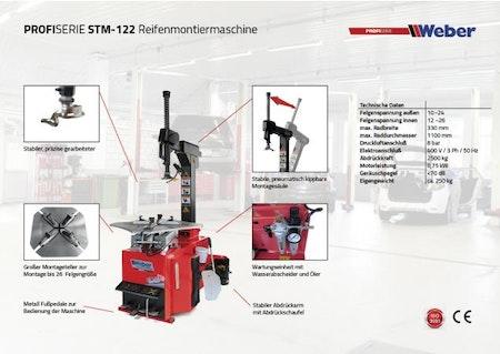 Däckomläggare Weber Profi Series STM-122