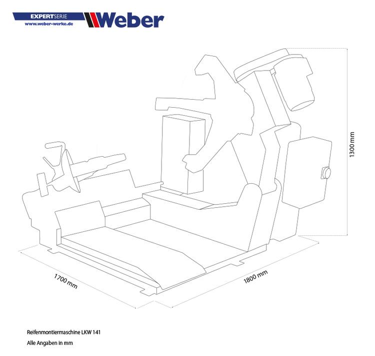 Däckmonteringsmaskin Weber Expert Series 141 lastbil