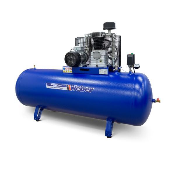 Verkstadskompressor 400 V / 10 bar / 500 l tank