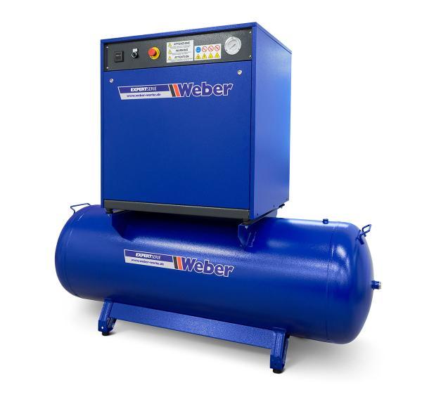 Ljuddämpad verkstadskompressor 400 V / 10 bar / 500 l tank