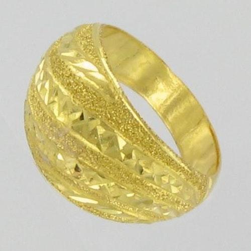 Thai gold ring, 1 slung 23K 3,8 G - 17¼