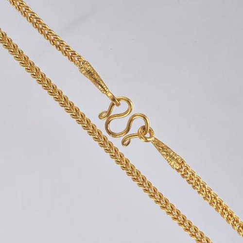 Thai gold necklace, 1 Baht 23K 15,2 G - 47,5 cm