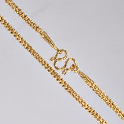 Thai gold necklace, 1 Baht 23K 15,2 G - 47,5 cm