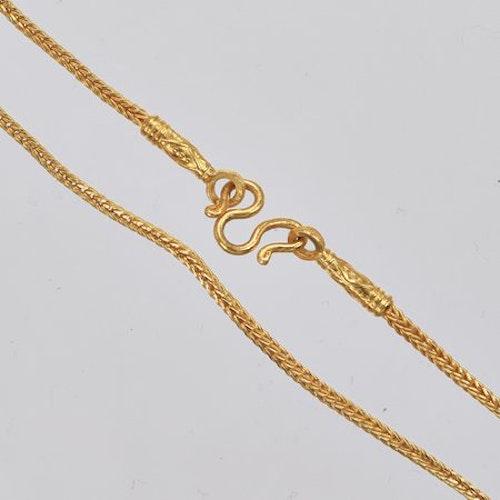 Thai gold necklace, 1 Baht 23K 15,2 G - 44 cm