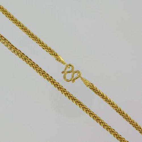 Thai gold necklace, 2 Baht 23K 30,4 G - 52,5 cm