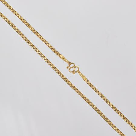 Thai gold necklace, 1 Baht 15,2 G 23K - 43,5 cm