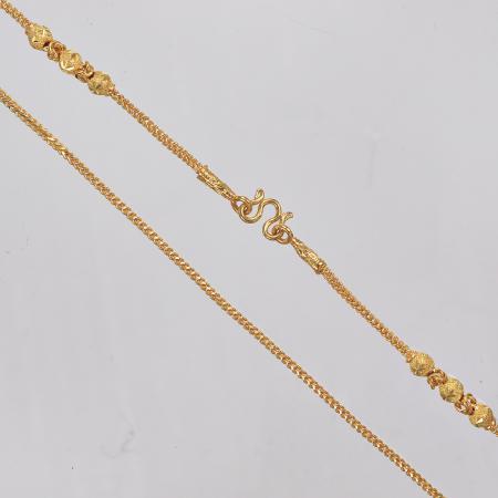 Thai gold necklace, 2 Baht 30,4 G 23K - 57 cm