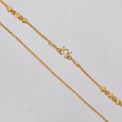 Thai gold necklace, 2 Baht 30,4 G 23K - 57 cm