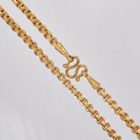Thai gold necklace, 3 Baht 45,6 G 23K - 64 cm